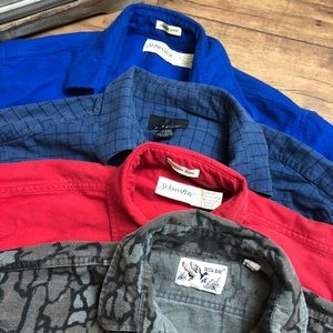 Other - Lot of 4 Men's Flannel Long Sleeve Shirts Lrg (S4)